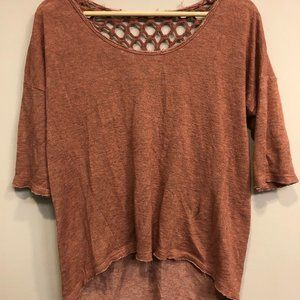 distressed Urban Outfitter 3/4 sleeve top
